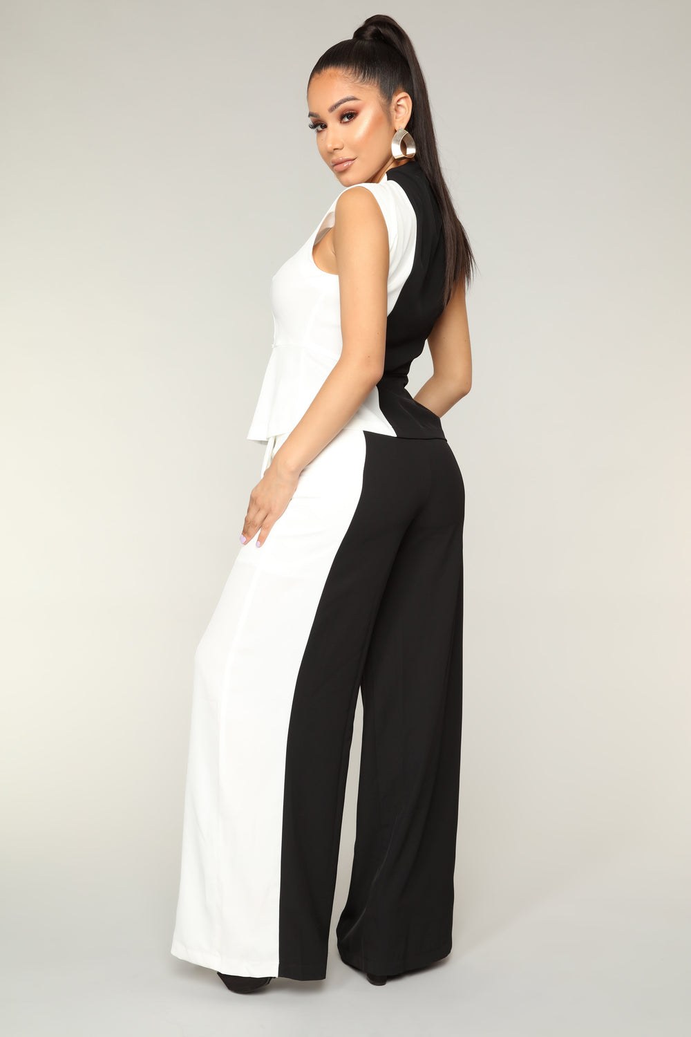 Ying And Yang Colorblock Set - Black/White