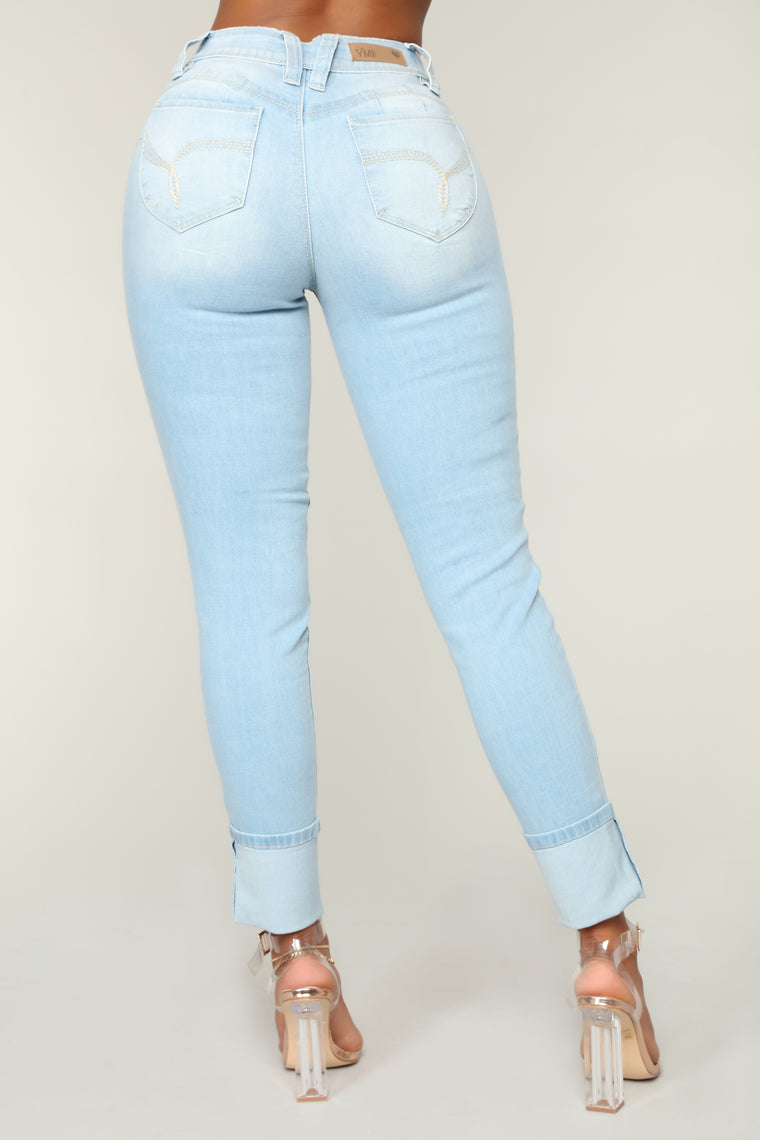 Grace Booty Lifting Jeans - Light Blue Wash