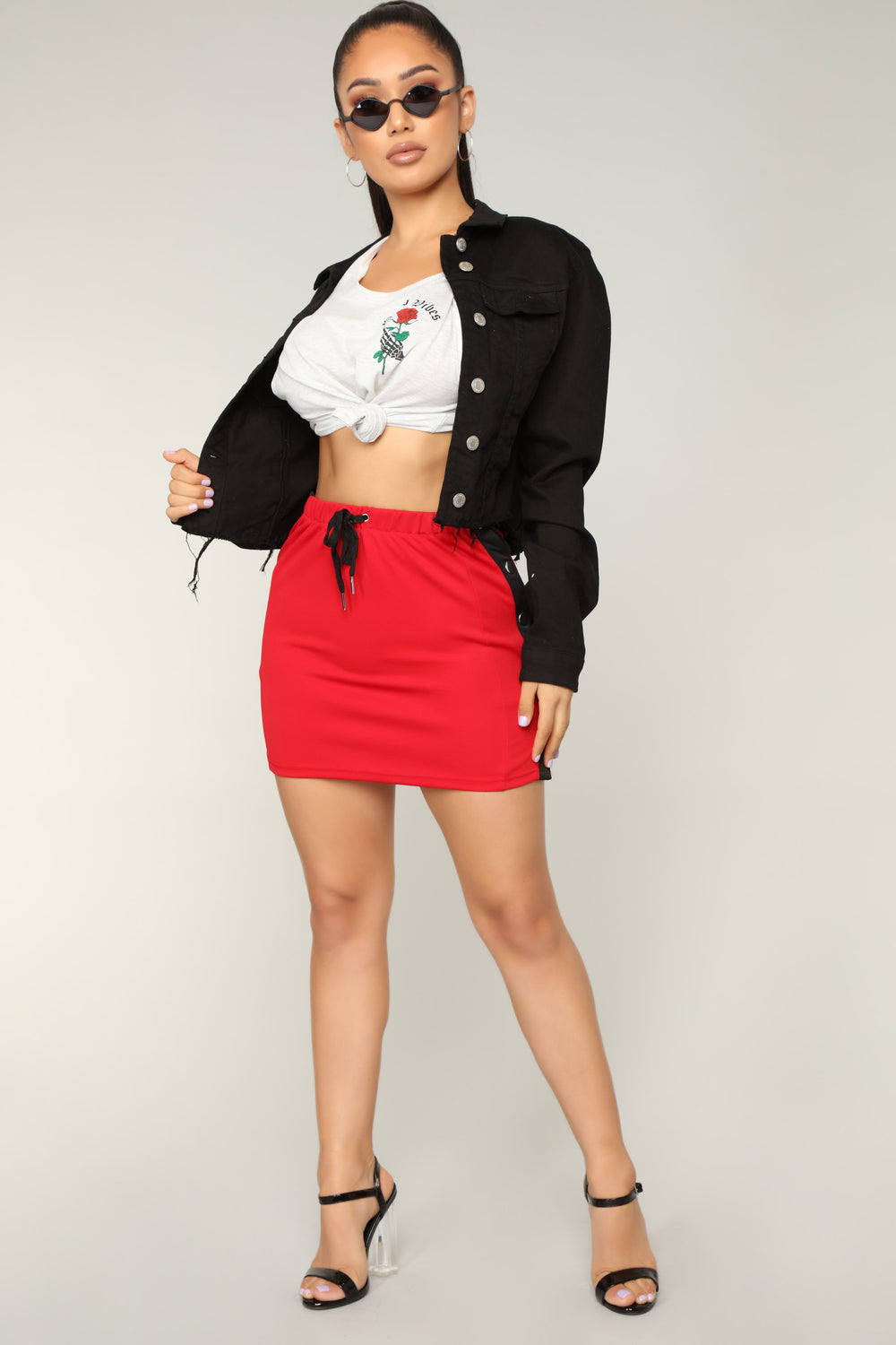 She Might Snap Skirts - Red /Black
