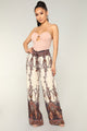 Gypsy Border Print Pants - Ivory/Multi
