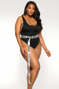 Boo'd Up Swimsuit - Black