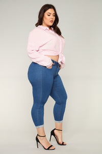 Forever Yours Booty Lifting Jeans - Medium Blue Wash