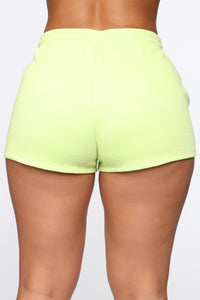 Made A Deal Lounge Shorts - Lime Angle 5