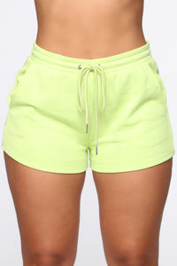 Made A Deal Lounge Shorts - Lime Angle 1