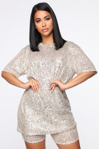 Gotta Shine Sequin Set - Silver