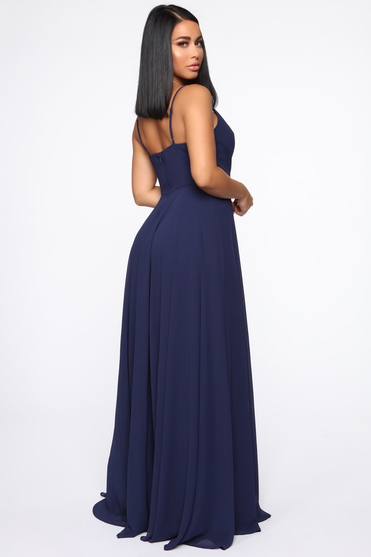 Lavish Occasion Maxi Dress - Navy