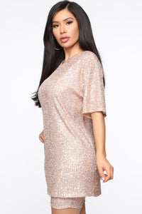 Gotta Shine Sequin Set - Rose Gold