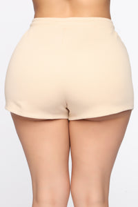 Made A Deal Lounge Shorts - Tan Angle 5