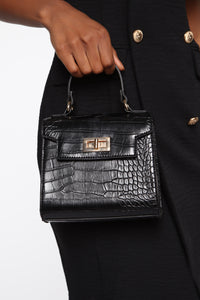 So Posh Handbag - Black