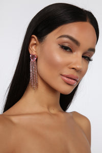 Love Me Harder Earrings - Pink