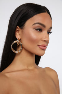 Knock Them Down Earrings - Gold