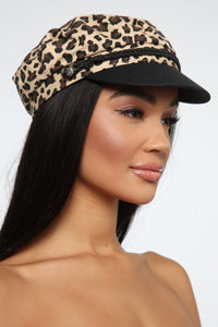 Pounce On Them Cabby Hat - Leopard