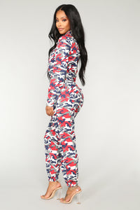 Troop Commander Camo Jumpsuit - Red Camo