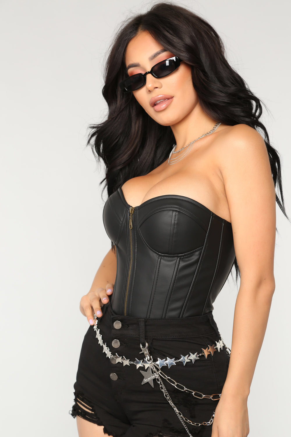 Simply Seductive Corset Top - Black