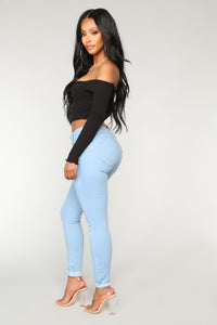 Marathon Booty Lifting Jeans - Light Blue Wash