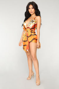 Not Chained To You Dress - Orange