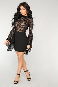 Fame Monster Dress - Black
