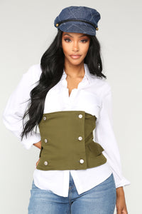 Heavily Snatched Belt - Olive