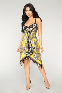 Gold Mine Handkerchief Dress - Yellow Multi