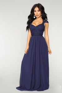 Angel On Fire Maxi Dress - Navy