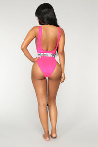 Boo'd Up Swimsuit - Fuchsia