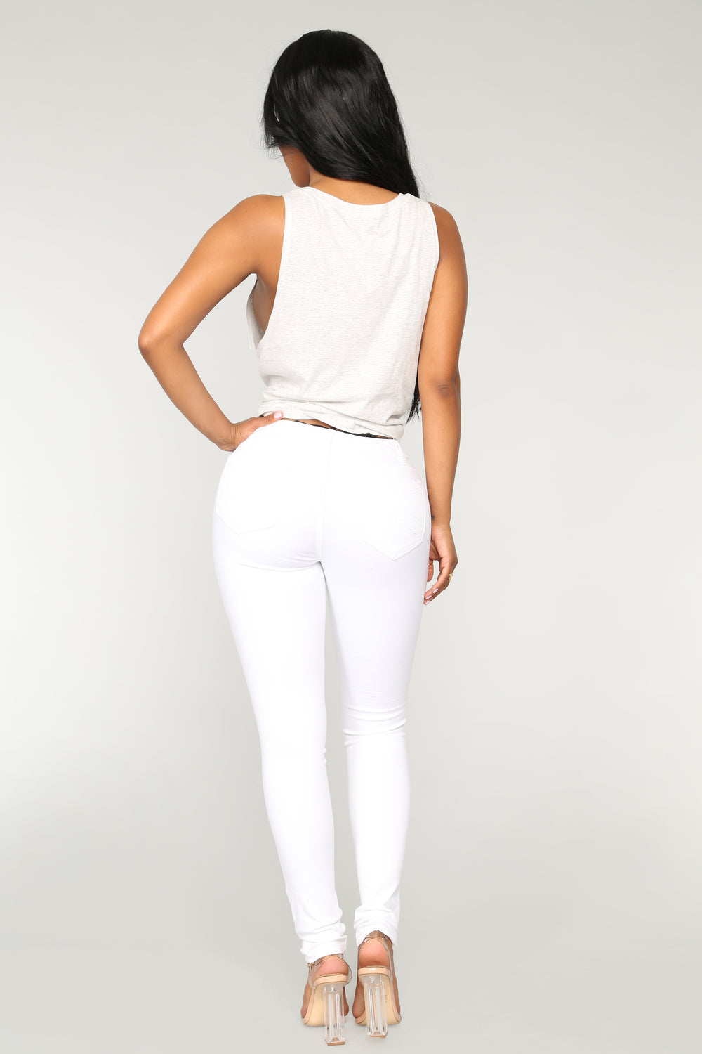 Back to Back Skinny Jeans - White