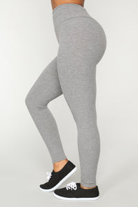 Let The Adventure Begin Leggings - Grey Angle 1