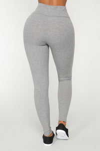 Let The Adventure Begin Leggings - Grey Angle 5