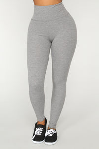 Let The Adventure Begin Leggings - Grey Angle 3