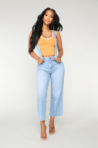 Rhiannon Suspender Jeans - Light Blue Wash