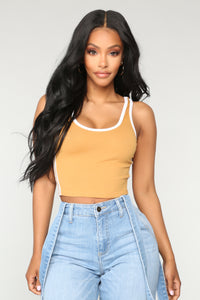 Sporty Girl Tank Top - Mustard