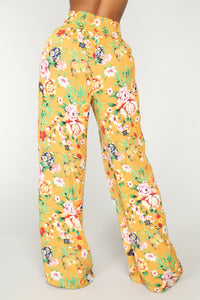 Your New Favorite Print Pants - Mustard