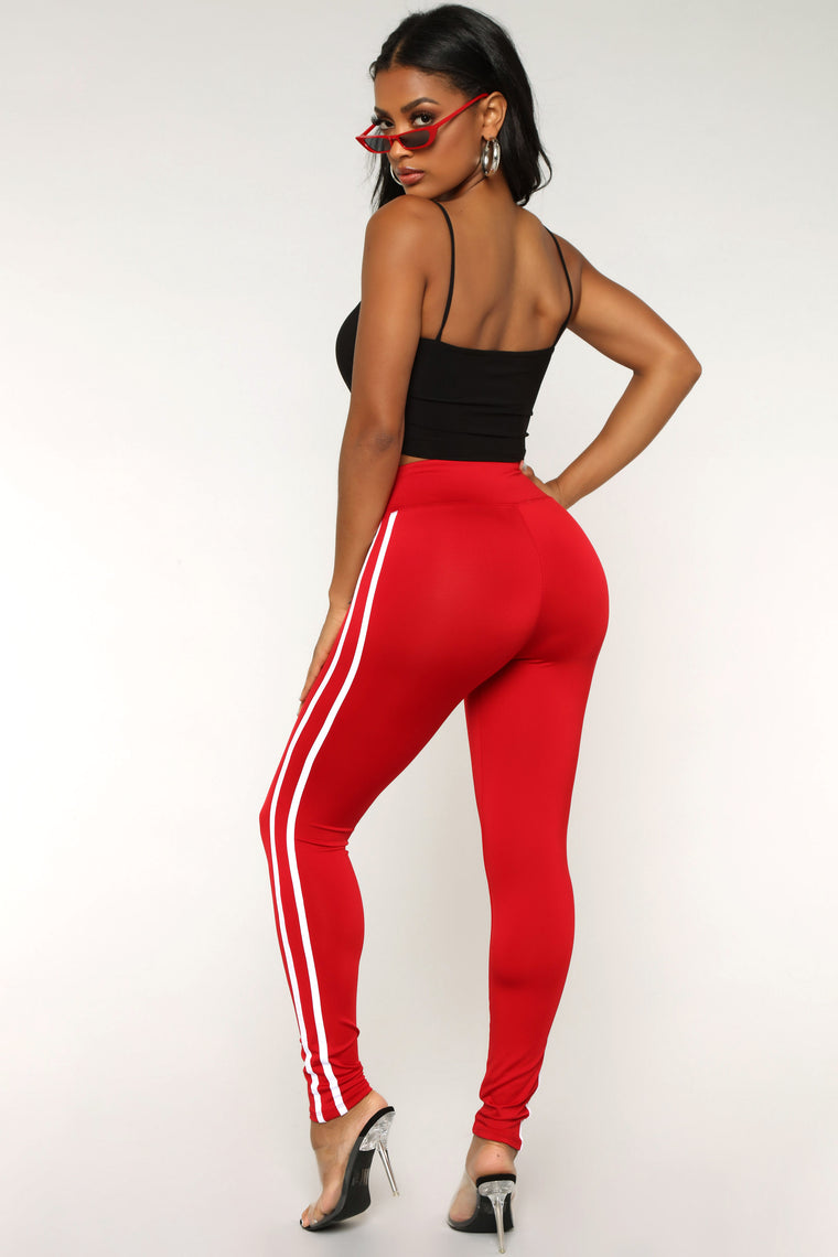 Not Your Average Active Leggings - Dark Red