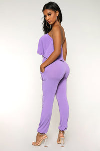Calm Vibes Jumpsuit - Purple