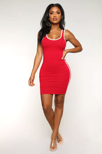 No Time For Games Dress - Red