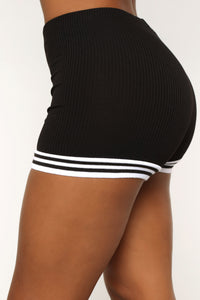 On Top Of My Game Shorts - Black