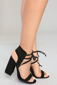 Block It All Out Heel - Black