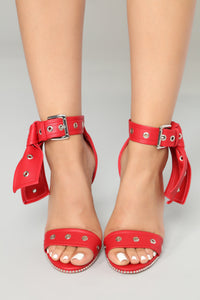 Grommet Your Needs Heels - Red Angle 3