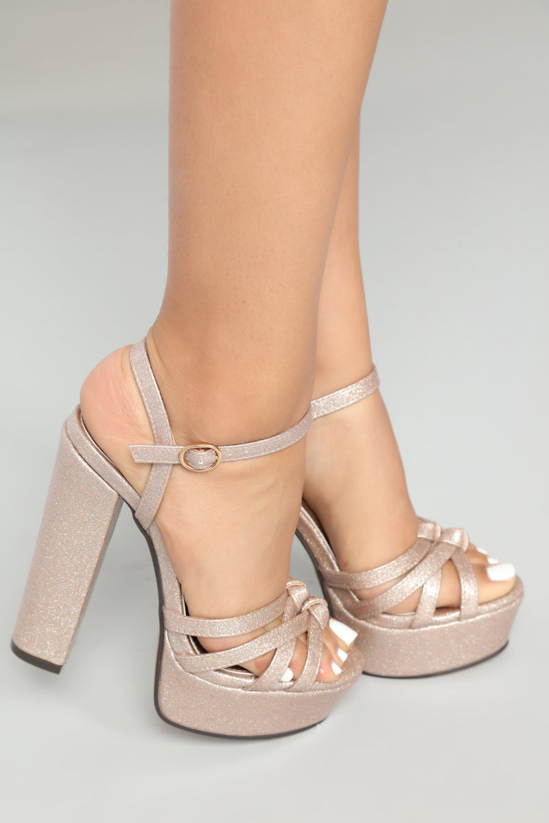 Twinkle In Her Eye Heels - Beige