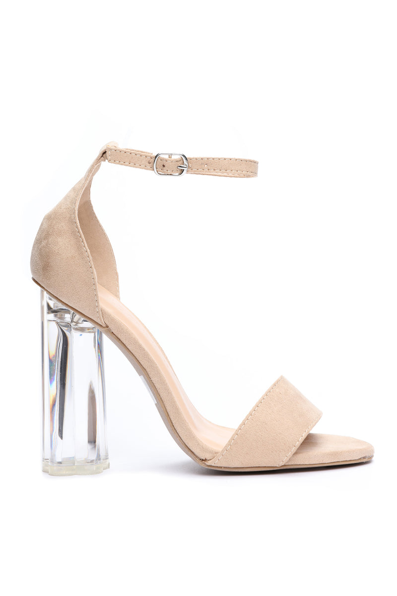 To Be Honest Heeled Sandal - Nude
