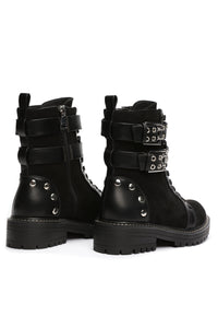 Belt In For Combat Boots - Black