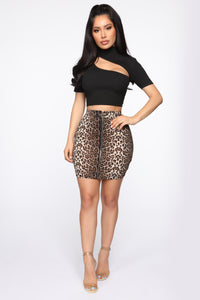 Amigas Cheetahs Mini Skirt - Animal Angle 2