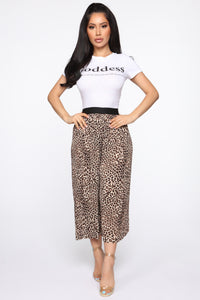 Pretty And Wild Pleated Pants - Tan/Multi Angle 1
