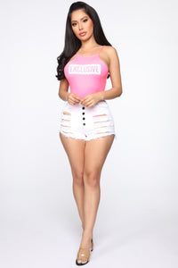 Exclusively Yours Bodysuit - Neon Pink