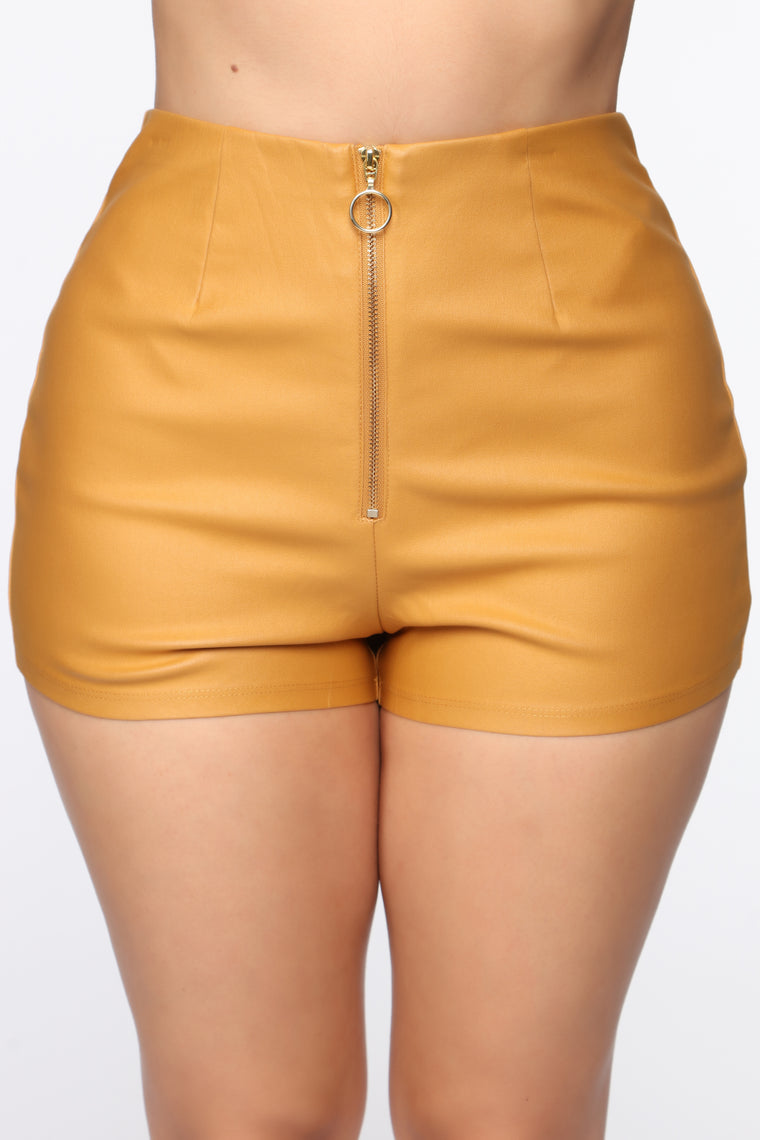 Getting Down High Rise Shorts   Mustard by Fashion Nova