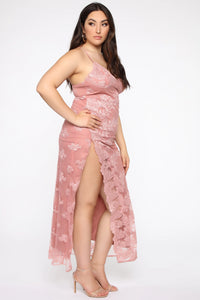 A Night In Tokyo Lace Dress - Mauve Angle 8