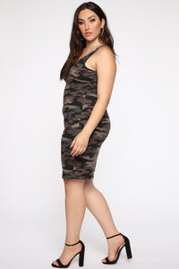 Wonderful You Midi Dress - Camo Angle 4