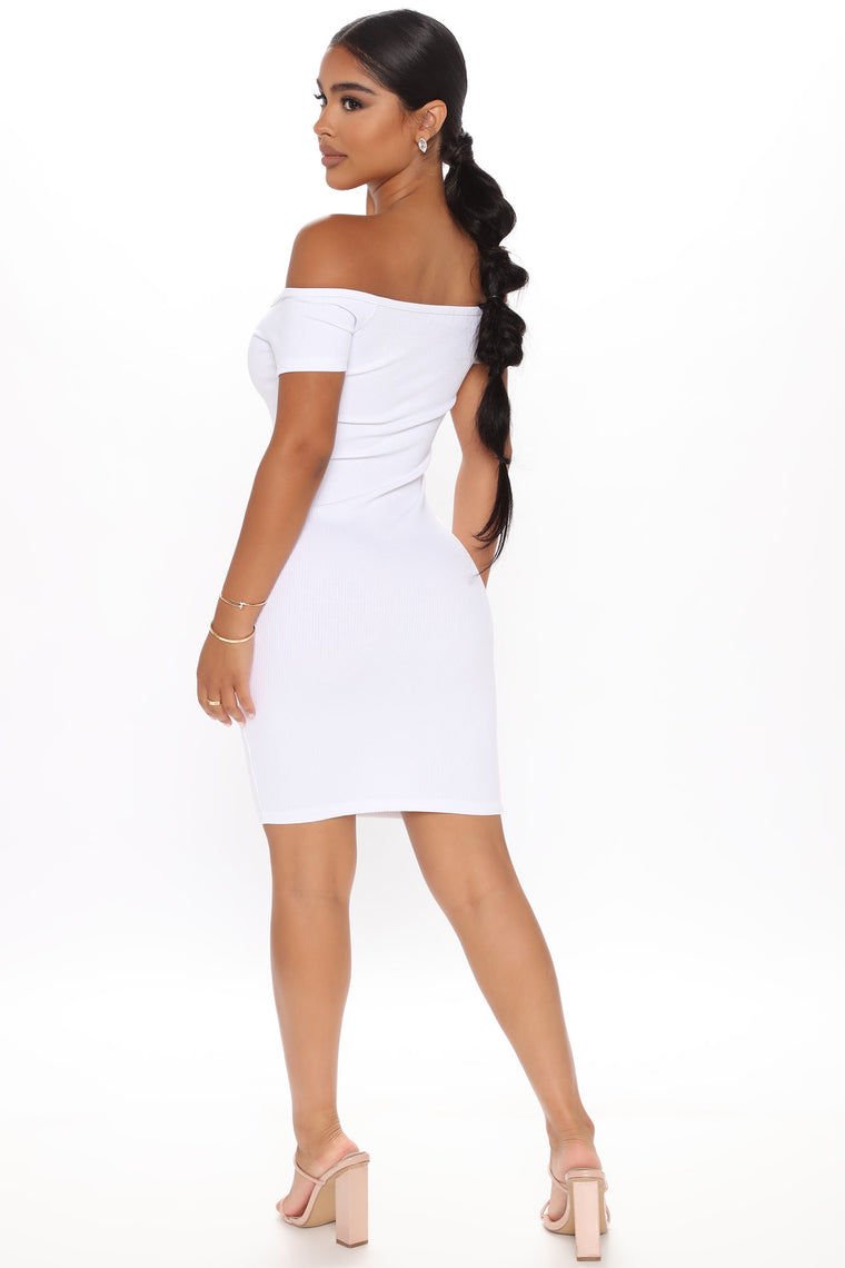 Lenna Off Shoulder Mini Dress - White