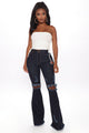 Dazed For Days Flare Jeans - Dark Denim
