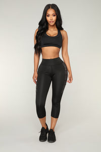 Jazmine Performance Leggings - Silver